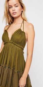 Free people 100 degree dress in green